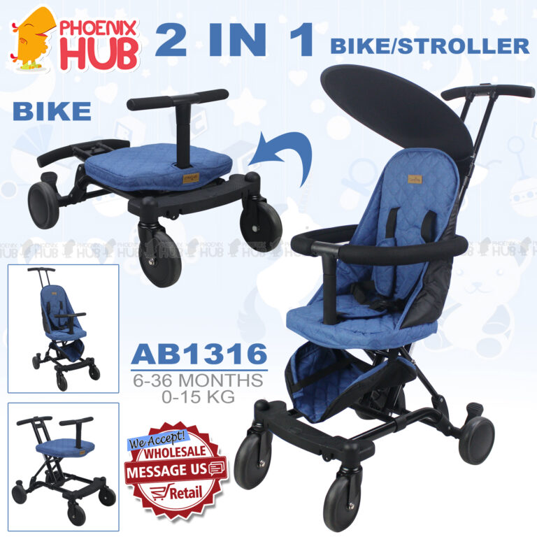 Phoenix Hub AB1316 Baby Stroller Bike Pushchair Multi Function Stroller Portable Baby Travel System
