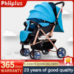 Lightweight and foldable baby stroller