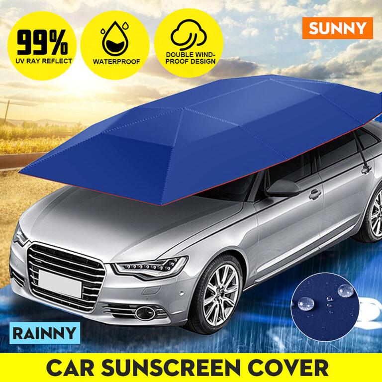 Semi-automatic Car Umbrella Roof Tent Remote Anti-UV Protection Cover Kit Remote