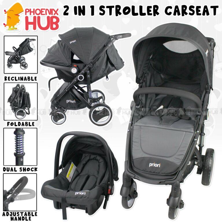 Phoenix Hub 800C 2 in 1 Baby Stroller Car Seat Baby Travel System with Dual Shocks Priori