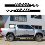 TOYOTA HILUX 2012 2013 2014 2015 2016 2017 2018 2019 Car Decals Hilux Stripe Side Door Graphic Vinyl Racing Car Stickers