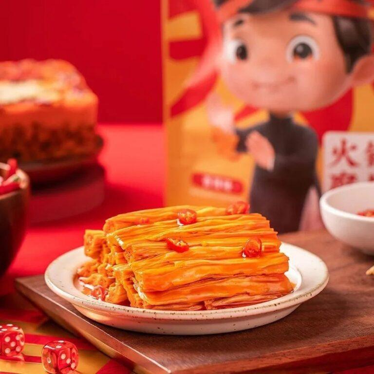 [China Heat] Lucky Wang Hot&Spicy Tofu Skin 105g