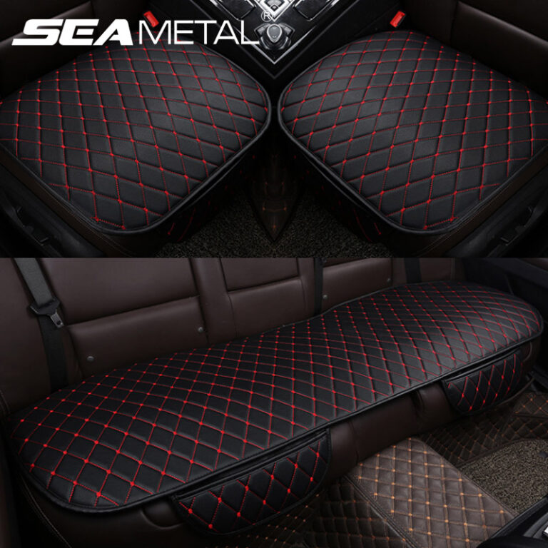 Car Accessories Car Seat Covers Set Universal Front Rear Seat Covers Leather Cushion Interior Auto Car Chair Seats Protector Mat