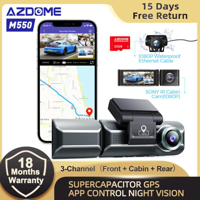 AZDOME M550 3 Channel Dash Cam