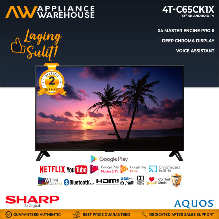 """Sharp 4T-C65CK1X 65"""" 4K Android TV (2 Years Warranty)"""