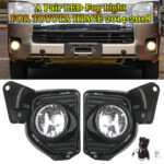 Pair LED Fog Lamps With Wiring Harness Kit For Toyota Hiace 2014-2018
