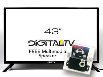HKTV 43 inch Flat Screen Digital LED TV with Multimedia Speaker