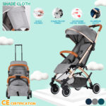 With storage Travel Pushchair stroller Airplane buggy foldable travel stroller