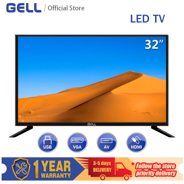 GELL 32 INCH TV sale LED TV Flat-screen Frameless Television Ultra-slim Multi-ports HDMI AV USB ace 32 Not Smart TV