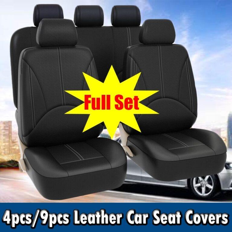 9pcs Car Seat Cover Set Leather Automotive Seat Protector Covers Car Seat Covers Universal Car Accessories