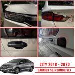 HONDA CITY E CVT  Garnish Cover Combo Set 2018 - 2020 (MATT BLACK)