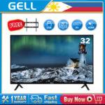(Free Bracket)GELL 32 INCH TV SALE LED TV flat on sale screen tv  Frameless Ultra-slim Multi-ports television (not smart tv)