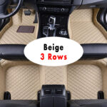LHD Car Floor Mat For Toyota Land Cruiser 2017 2018 2019 2020 5 Seater 7 Seater Seats Custom Fully Surrounded Waterproof Leather Car Matting Matt Foot Pad Carpet Rug Car Interior Accessories Car Styling