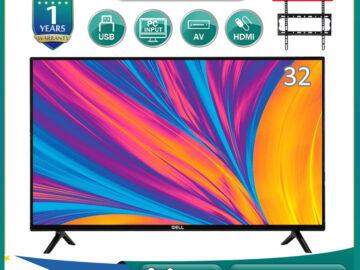 (promo tv)GELL 32 INCH LED TV  flat screen on sale  Frameless Ultra-slim Multi-ports (free bracket)