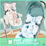 Bestmommy Baby Stroller Cotton Cushion Seat Mat Breathable Soft Car Pad Pushchair Urine Pad Liner Cartoon trolly Mattress Baby Cart Pram