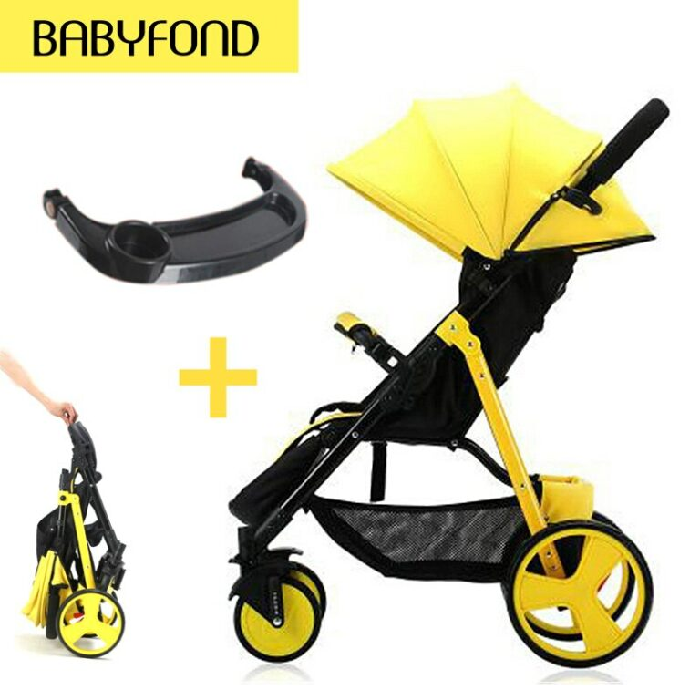 Fast shipping !SLD lightweight umbrella carts with baby tray trolley High landscape baby stroller folding carry on the plane