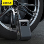 Baseus Portable Electric Air Compressor 150PSI Tire Inflator Smart Digital Tire Pressure Detection Electric Inflator Pump for Bike / Motorcycle / Car / Ball