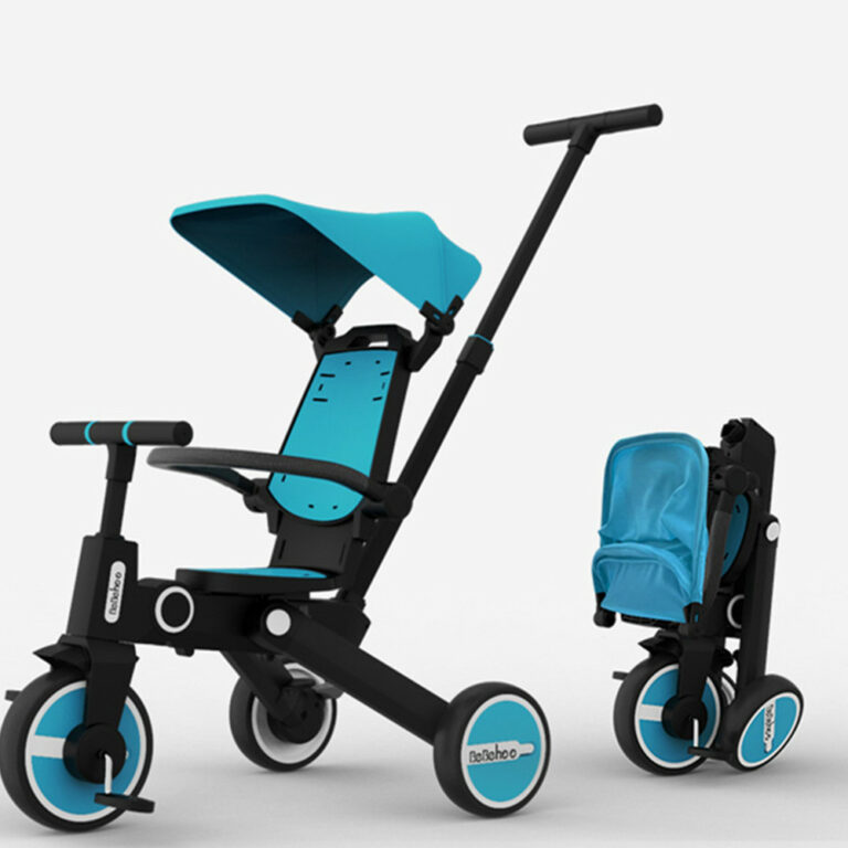 Multifunctional Children's Tricycle 5 in 1 Two-way  Foldable Baby stroller Folding Lightweight Children's Bicycle Baby Stroller Baby Infant Stroller Doll