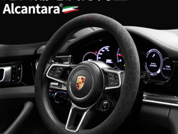 Alcantara Imported Car Steering Wheel Cover Suede Handle Cover Four Seasons Available Steering Wheel Suede Universal
