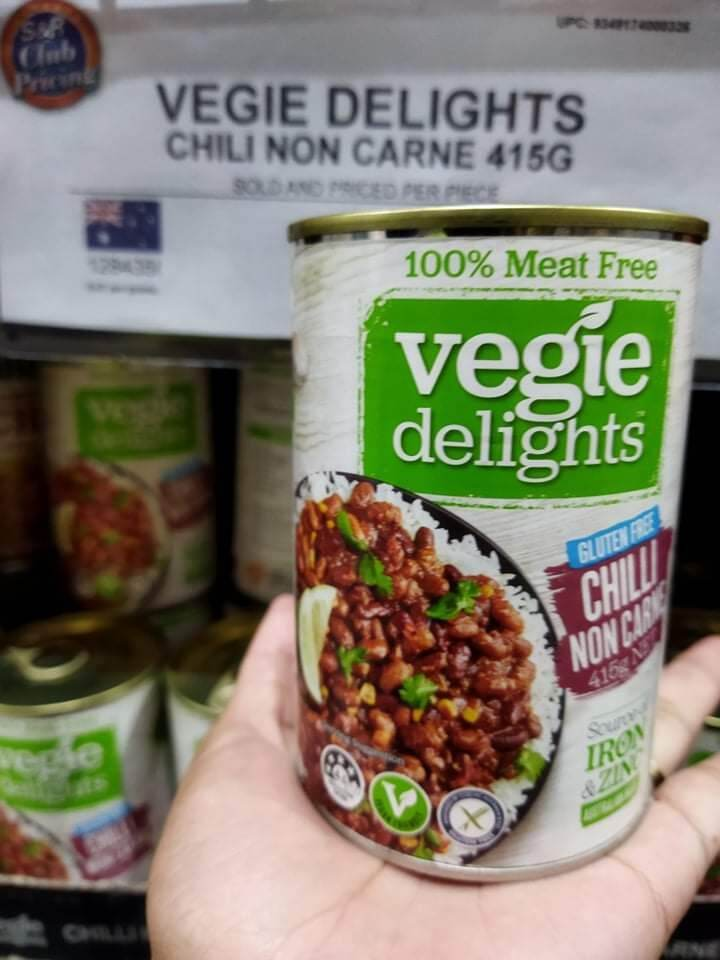 VEGIE DELIGHTS CHILI NON CARNE  (415 grams) 100% meat free