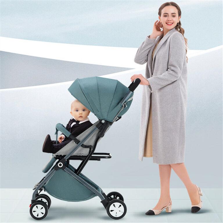 2021 New Baby Stroller Wagon Portable Folding Baby Pushchair Lightweight Pram Baby Carriage Baby Car
