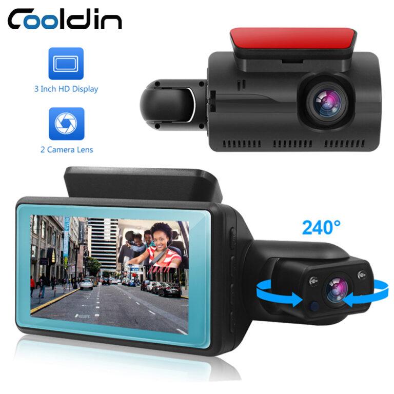 COOLDIN Car DVR Dash Cam Dual Lens FHD 3.0 Inch Dash Cam Auto Video Recorder Registrator Dvrs With infrared Red Night Vision G-sensor