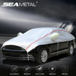 Universal Car Covers Waterproof Snow Dust Resistant Oxford Lint Protection Cover for Sedans SUVs