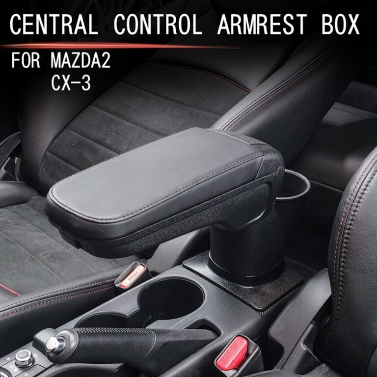Car Central Armrest Box Punch-Free Central Console Armrest Box Storage Box for Mazda CX-3 2015-2018 Mazda 2 2020-2021