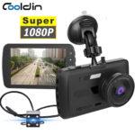 COOLDIN Car DVRs Dash Camera Rear View Video Recorder 3.6 Inch 1080P HD WDR Loop Recording G-sensor Night Vision 170° Wide Angle Dash Cam