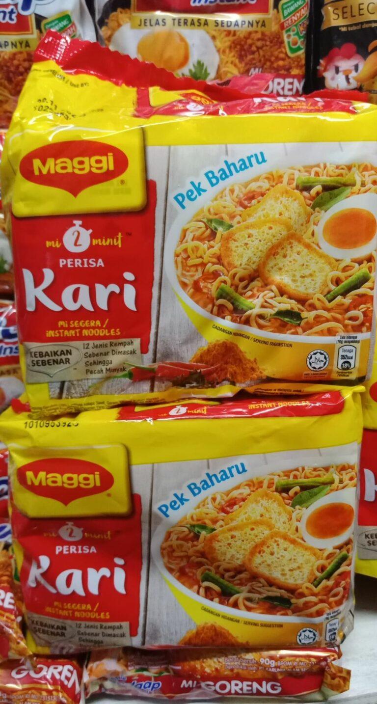 Maggi Kari instant noodles Malaysia 5pcs/pack