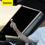Baseus Car Accessory Sun Shade Retractable Windshield Car Window Shade Car Front Sun Block Auto Rear Window Foldable Curtain Sunshade