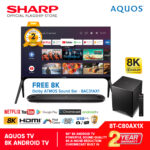 "Sharp 8T-C80AX1X AQUOS 80"" 8K ANDROID TV (2 Years Warranty)"