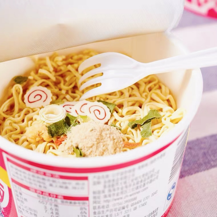 Hong Kong Doll Instant Cup Noodles (Seafood Flavor) 30g