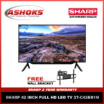 """Sharp 42"""" Led Tv  / Sharp 2T-C42BB1M / 42 inch FULL HD LED TV 2T-C42BB1M with FREE Wall Bracket / Sharp Led Tv / Led Tv /"""