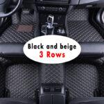 LHD Car Floor Mat For Peugeot 5008 MK2 2017 2018 2019 5 Seater 7 Seater Custom Fully Surrounded Waterproof Leather Car Matting Matt Foot Pad Carpet Rug Car Interior Accessories Car Styling