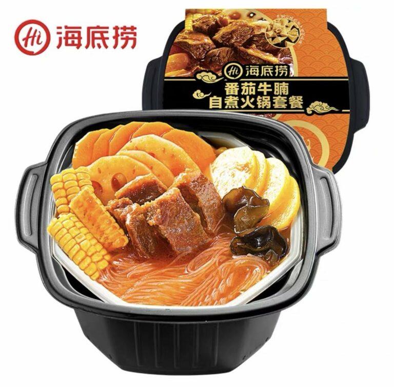 EQGS Instant Hotpot Self-Heating ShaBu-ShaBu HaiDiLao Tomato Beef Hot Pot 435g