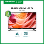 XTREME 32-inch LED TV Slim Bezel USB Port HDMI VGA Dynamic Sound Quality HDR Quality (Black) [MF-3200]