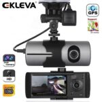 EKLEVA 2.7 Inch TFT LCD Full HD Front & Rear Dual Camera Vehicle Car DVR Dash Cam Recorder Camcorder with 140 Wide Angle Lens