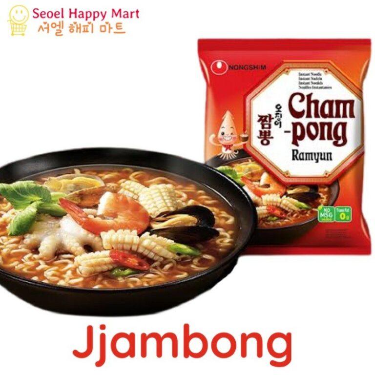 NongShim Champong Jjampong Seafood Squid Flavor Ramyun Noodle Soup 124g
