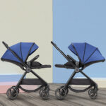New Comfortable Two-way Pure Color Baby Stroller Simple Sunshade Collapsible Travel Pram Infant Pushchair
