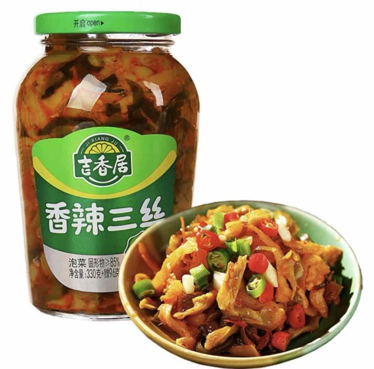 EQGS JiXiangJu Spicy ChaoSanSI Pickles  Chinese Famous food Brand Perfect match with Congee & RIce