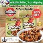 5 pcs of Korean Nongshim Chapagetti Ramen (Ramyeon/ Ramyun) 137g K-Food Korean Ramen