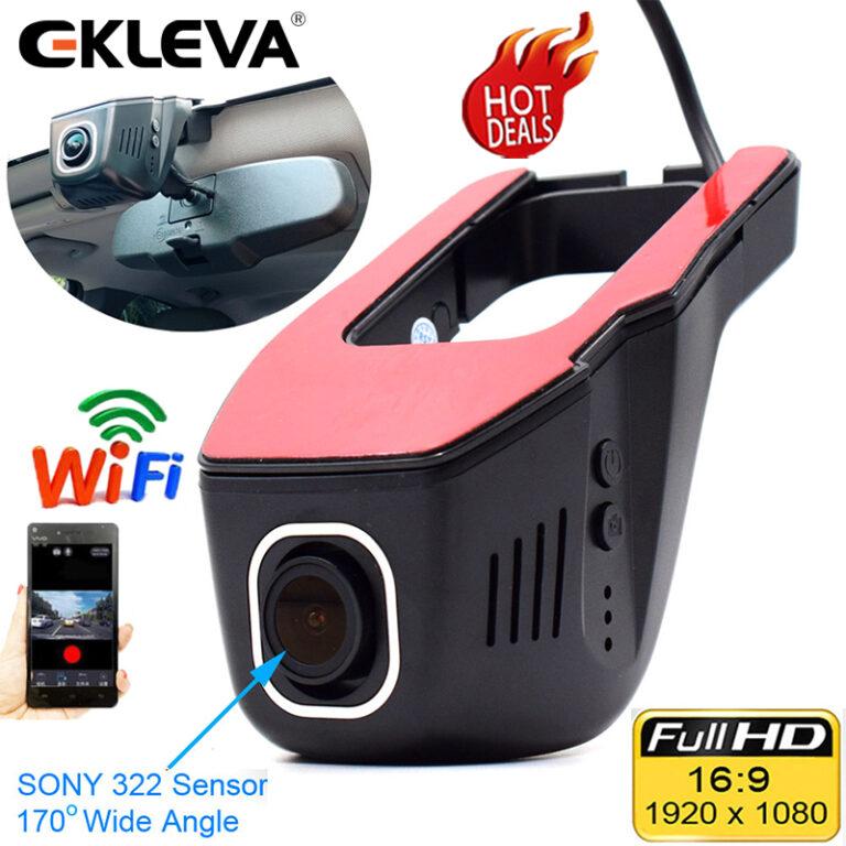 EKLEVA Car DVR Dash Camera Mini WIFI Dash Cam Digital Video Recorder Camcorder 1080P Night Version Novatek 96658 IMX 322 WiFi Hidden Dash Cam