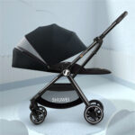 Newborn Baby Stroller 7.8kg Two-way High Landscape Lightweight Pram Portable Folding Can Sit and Lie Cabin Size
