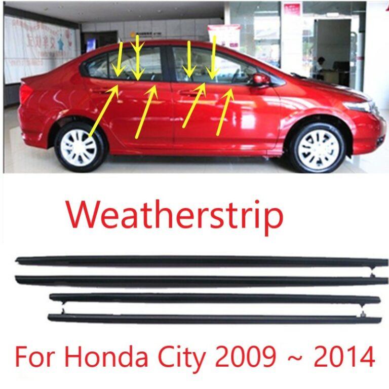 4pcs For Honda City 2009 2010 2011 2012 2013 2014 Car Outside Window Moulding Weatherstrip Seal Belt Weather Strip Plastic Trim