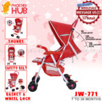 Phoenix Hub JW-771 Baby Stroller Travel System Super Lightweight Stroller Foldable Stroller Push Chair Portable Stroller