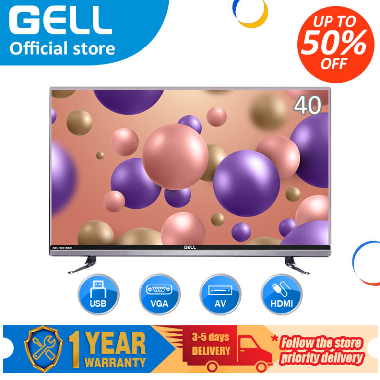 ?television?GELL 40-inch Full HD LED TV flat on sale screen tv frameless ultra-thin