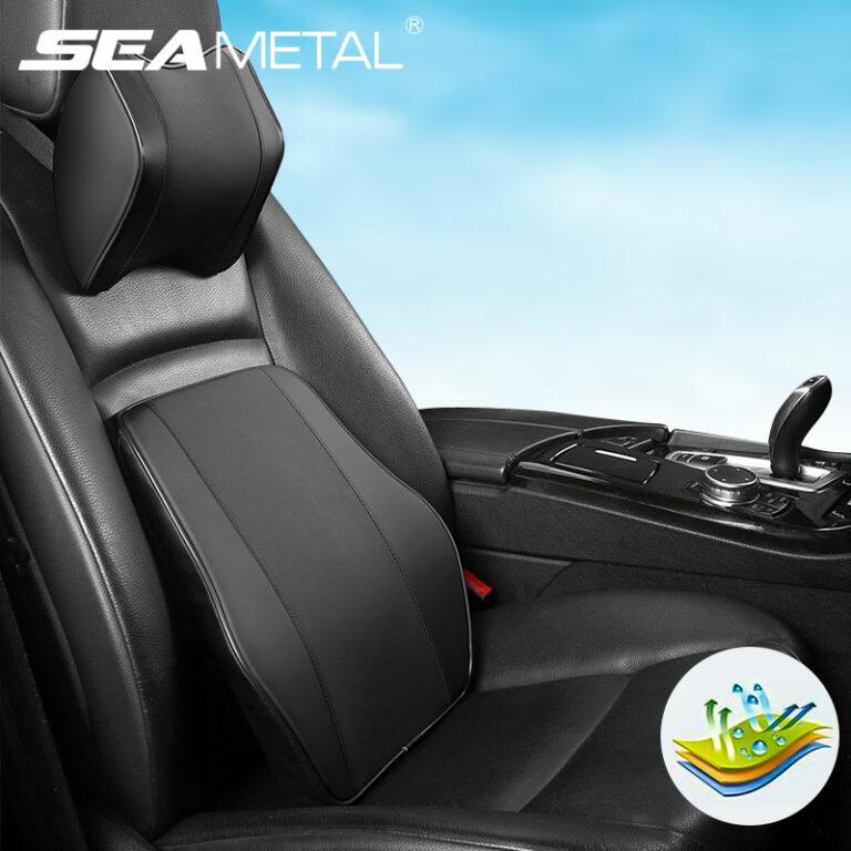 Car Seat Cushion Neck Pillow Waist Support Set Car Headrest Lumbar Support Pillow