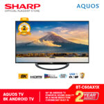 "Sharp 8T-C60AX1X AQUOS 60"" 8K ANDROID TV (2 Years Warranty)"