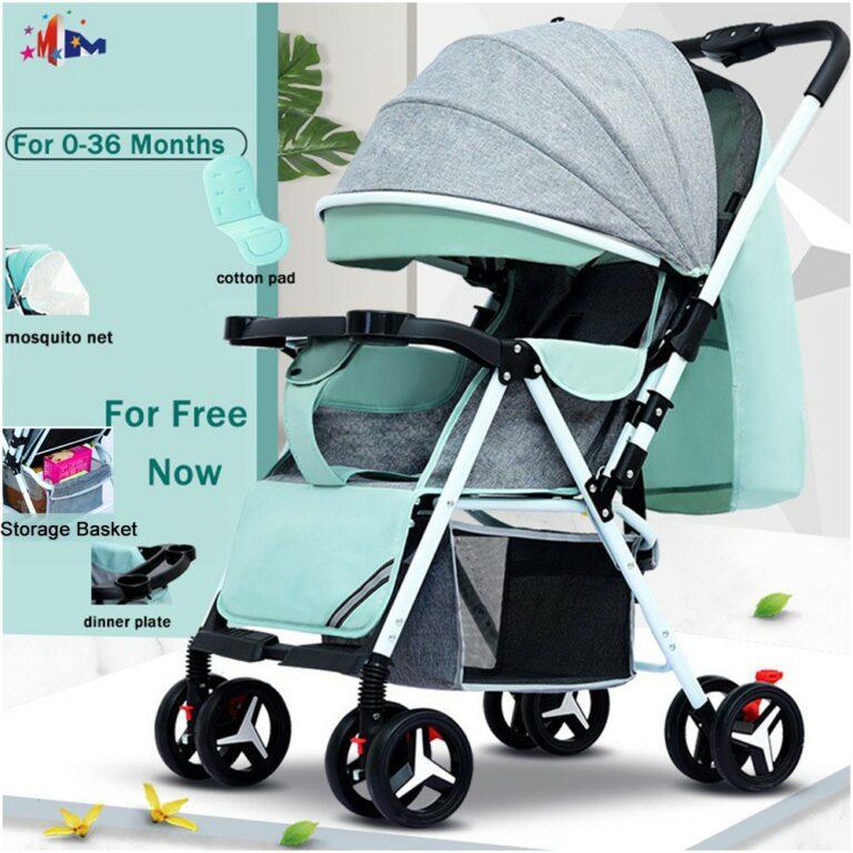 Megamall Baby Stroller Toddler Walker Foldable Washable Plate 2-way Light Infant Stroller 0-36 Month Graco Stroller Price